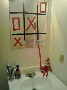 Elf on the Shelf Ideas for Kids With Messages Which Kids Are Gonna Love - Hike n Dip Here are over 70 Elf on the Shelf Ideas for Kids. These funny Elf on the Shelf ideas with notes will surely be a fun thing to do with kids for Christmas. Woody Und Buzz, Elf Auf Dem Regal, Awesome Elf On The Shelf Ideas, Timmy Time, Tic Tac Toe, Elf Magic, Elf On The Self, Naughty Elf, Christmas Preparation