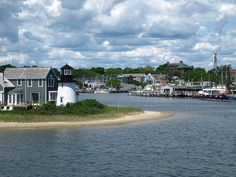Entrance to a small harbor in hyannis port.....marthas vineyard.  This was such a pretty place!