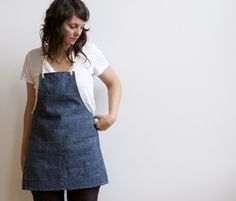 Apron perfection - recycled hemp and organic cotton. handmade by small batch productions on etsy