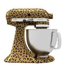 Stand Mixer KitchenAid com estampa de oncinha | Leopard Print Stand Mixer | Jaguar Print Stand Mixer KitchenAid.
