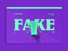 FAKEFUNQ™ Web Design designed by Keith Alva. Web Design Websites, App Ui Design, Interface Design, Logo Design, Digital Web, Brand Board, Web Layout, Website Design Inspiration, Interactive Design