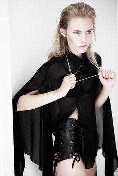 Religiously – Model Emily Baker dons darkly romantic looks in this shoot by David K. Shields for Australian glossy, Stil Magazine. Romantic Period, Romantic Look, Leather Fashion, Corset, That Look, Goth, David, Model, Photography