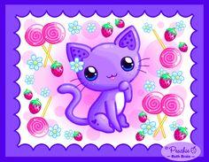 Strawberry Swirl Kitty by Princess-Peachie on DeviantArt