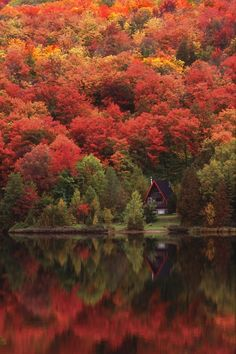 Autumn lake, Quebec, Canada I love my country....i know corny but true