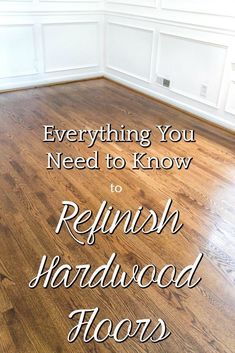 Everything You Ever Needed to Know to Refinish Hardwood Floors | A step-by-step tutorial for refinishing an existing hardwood floor, including a complete list of materials from @minwax and tips for a seamless process. #hardwoodfloors #refinishhardwood #di