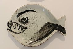 FISCH SCHALE: Tierisches Design.Hand painted Spoon Rest, Tableware, Design, Atelier, Fish, Dinnerware, Dishes, Design Comics, Place Settings