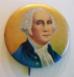 Rare Antique George Washington Political Pin Button Memorabilia by parkledge on Etsy
