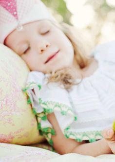 A Sleeping princess.