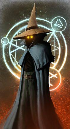 Final Fantasy - Black Mage by Jedi-Art-Trick Arte Final Fantasy, Final Fantasy Tactics, Fantasy Wizard, Fantasy Rpg, Dark Fantasy Art, Fantasy Artwork, Final Fantasy Characters, Fantasy Character Design, Character Art