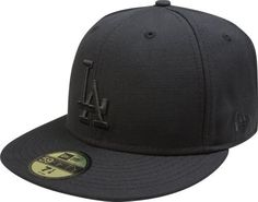 MLB Los Angeles Dodgers Black on Black 59FIFTY Fitted Cap by New Era.   20.47. bc5f9ea320b7