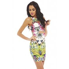 Ax Paris - Tropical Print Cut Out Slit Waist Dress I Love Fashion, Passion For Fashion, Womens Fashion, Beautiful Outfits, Cute Outfits, Beautiful Clothes, Street Outfit, Birthday Dresses, Print And Cut