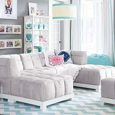 baldwin quilted cushy collection. I love this lounge furniture that you can piece together.