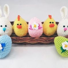 Crochet easter wreath door decoration easter door wreath door   Etsy Easter Toys, Easter Gift, Easter Crafts, Easter Decor, Happy Easter, Easter Bunny, Flamingo Party, Easter Crochet, Crochet For Kids