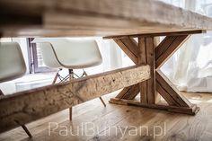 Stół drewniany ze starego drewna - model DM Stoły drewniane ze starego drewna