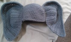 Things I crochet, baby elephant beanie