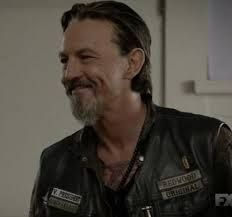 Chibs - Sons of Anarchy. I do love it when he smiles...