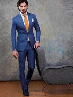 Blue w/ yellow tie