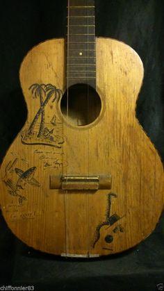 RARE GUITARE VINTAGE CUBA FLAMENCO LOS CAMAGUEY'S 70 dédicacée Jo..?? in Instruments de musique, Guitares, basses, accessoires, Guitares acoustiques   eBay