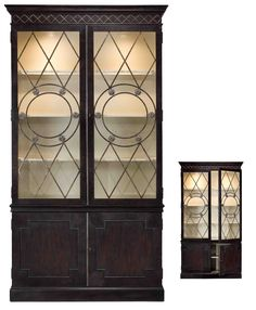 China Cabinet Art Deco Solid Oak Hand Made Finished Jolie Finish New