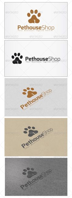 2d7f984480f9 Pethouse Shop Logo #GraphicRiver Re sizable Vector EPS and Ai PSD 5208*3125  Color