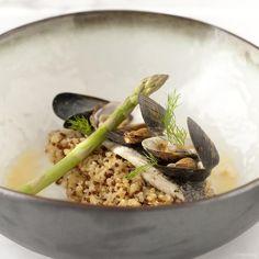 Dit recept van dorade royale, venusschelpen, mosselen, quinoa heeft àlles in zich om het te maken: heerlijke combi van dorade en schelpen, knapperige quinoa en een lekker licht sausje. Yum!