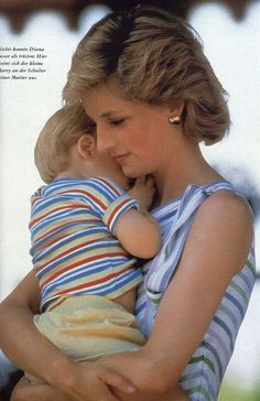 Princess Diana and Prince Harry. One of my favorites of Diana!
