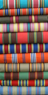 Deck Chair Canvas: Stripe fabrics for recovering deckchairs & directors chairs. Tack canvas on to your existing deckchair using upholstery nails - metres for a standard deckchair UK Striped Cushions, Striped Fabrics, Folding Beach Chair, Nautical Design, Weaving Patterns, Fabulous Fabrics, Love Sewing, Textiles, Outdoor Fabric