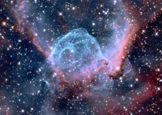 Taken at Mount Lemmon, this nebula is named 'Thor's Helmet'.