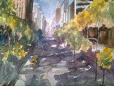 Pintar acuarelas: Streets