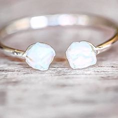 Our Silver Little Raw Opal Ring    Available in our 'Mermaid' and 'Earthly Treasures' Collections    www.indieandharper.com