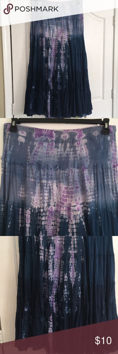 INC International hippie tie dye maxi skirt Blue and purple 100% cotton maxi INC International Concepts Skirts Maxi