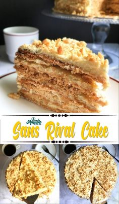 Sans Rival is a Filipino dessert cake made of cashew meringue layers and French buttercream. It's chewy, crunchy, sweet and salty all in one marvelous bite. Pinoy Dessert, Filipino Desserts, Filipino Dishes, Filipino Food, Filipino Recipes, Candy Recipes, Sweet Recipes, Dessert Recipes, Amigurumi
