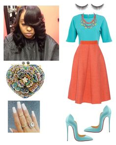 A fashion look from May 2015 featuring Miss Selfridge tops, Roksanda Ilincic skirts and Christian Louboutin shoes. Browse and shop related looks. Fashion Moda, Diva Fashion, Look Fashion, Fashion Trends, Modest Outfits, Modest Fashion, Cute Outfits, Fashion Outfits, Woman Outfits