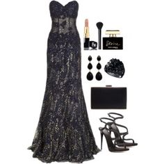 A fashion look from April 2016 featuring jovani gowns, black platform sandals and zara purses. Browse and shop related looks. Teen Fashion Outfits, Classy Outfits, Polyvore Outfits, Pretty Dresses, Beautiful Dresses, Jugend Mode Outfits, Frack, Formal Dresses For Women, Red Carpet Dresses