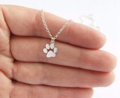 Dog Paw Print Necklace