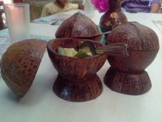 Very creative use of coconut shell