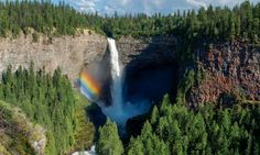 Wells Gray Provincial Park, British Columbia, Canada --- Rainbow formed by mist from Helmck - Provided by Guardian News