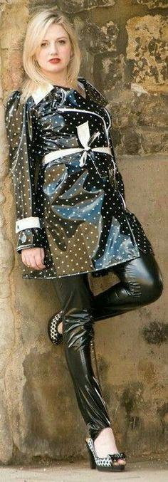 Raincoats For Women Rainy Days Product Vinyl Raincoat, Pvc Raincoat, Black Raincoat, Leather Pants Outfit, Pvc Coat, Raincoats For Women, Rain Wear, Colorful Fashion, Women Wear