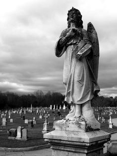 """Angel with Book, St. Mary""""s Cemetery, Putnam, CT"""