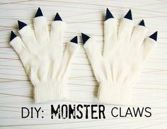 Cool Craft Ideas for Kids-  using gloves, felt, and a glue gun