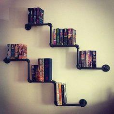 Vintage-Industrial-Style-Galvanised-steel-Pipe-Book-Shelf-Storage-Shelving-ZH31