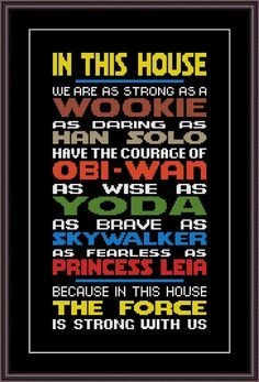 Star Wars Funny Cross Stitch PDF Pattern In This House The