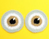 Minion Eyes, Crochet Applique, Despicable Me, Hat Applique, Big eyes, Cartoon Character, Sewn on Applique, Crochet Eyes, Kids Clothing