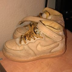 half off 1c518 6a382 Nike Shoes   Toddler Hi Top Nike Air Force Ones  Wheat 9c   Color  Brown Tan    Size  9b