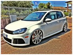 GTI MK6 + Audi Wheels = perfect white