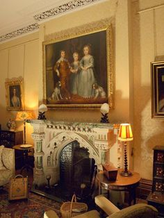 Morning room, Tyntesfield House by Derek Harper, via Geograph - Morgen Classical Interior Design, English Interior, Beautiful Living Rooms, Beautiful Interiors, Victorian Gothic, Victorian Homes, English House, English Manor, Revival Architecture