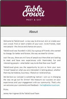So what is TableCrowd you ask? Invite Friends, Group Of Friends, You Ask, Meeting New People, A Table, Take That, Invitations, News, Save The Date Invitations