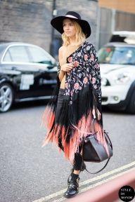 London FW SS15 Street Style: Elena Perminova