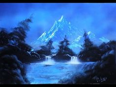 Mountain lake Spray Paint Art