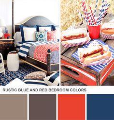 Tuesday Huesday: Rustic Americana Bedroom Colors (http://blog.hgtv.com/design/2013/07/02/tuesday-huesday-rustic-americana-bedroom-colors/?soc=pinterest)